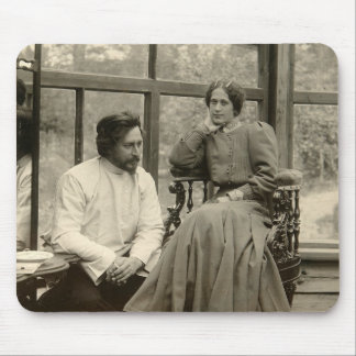 The author Leonid Andreyev with his wife Mouse Pad