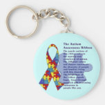 """The Autism Awareness Ribbon"" Keychain"