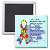 """The Autism Awareness Ribbon"" Magnet"