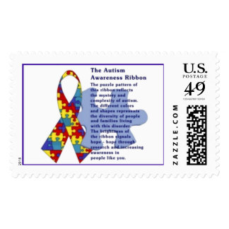 """The Autism Awareness Ribbon"" Stamp"