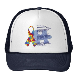 """The Autism Awareness Ribbon"" Trucker Hat"