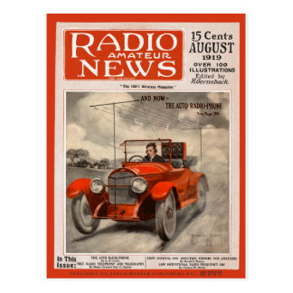The Auto Radio-Phone Postcard