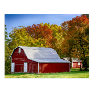 The Autumn Barn Postcard