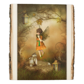 The Autumn Fairy Wooden Panel