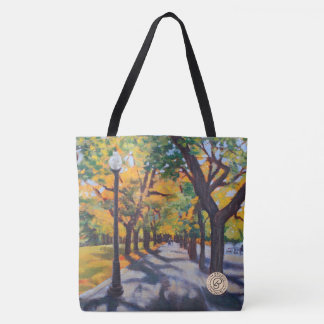 The Autumn Leaves Pathway Tote Bag