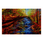 The Autumn Maple Stream Posters