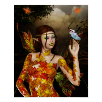 The Autumnal Fae Poster