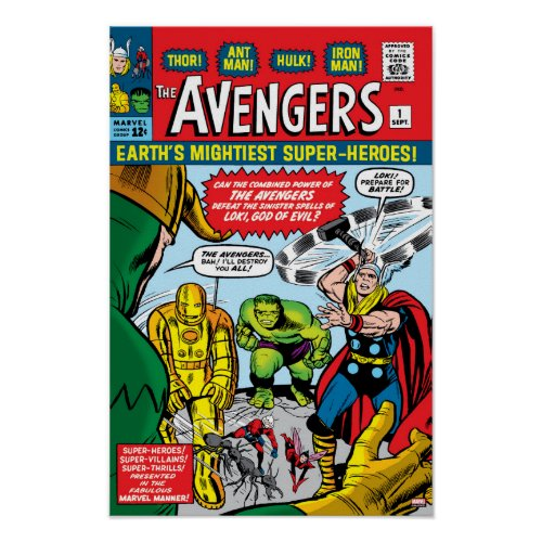 The Avengers #1 Comic Cover Poster