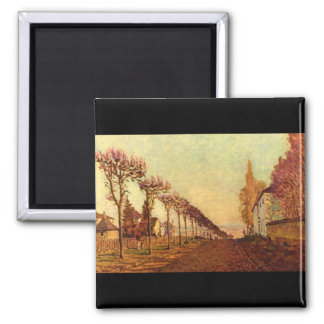The Avenue', Alfred Sisley'_Impressionists Magnet
