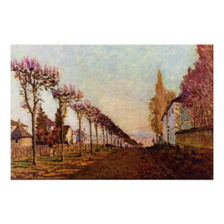 The Avenue by Alfred Sisley Poster