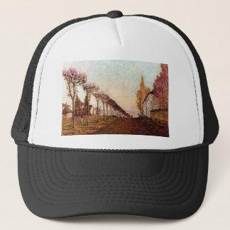 The Avenue by Alfred Sisley Trucker Hat
