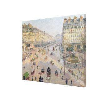 The Avenue de L'Opera, Paris Canvas Print