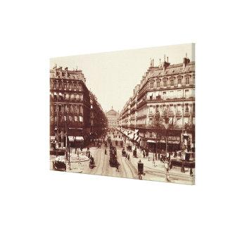 The Avenue de l'Opera, Paris  (sepia photo) Canvas Print