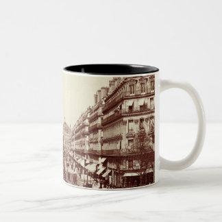 The Avenue de l'Opera, Paris  (sepia photo) Two-Tone Coffee Mug