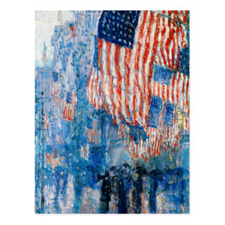 The Avenue in the Rain by Childe Hassam Post Card