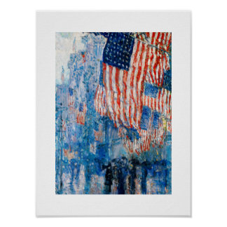 The Avenue in the Rain. Fine Art Poster