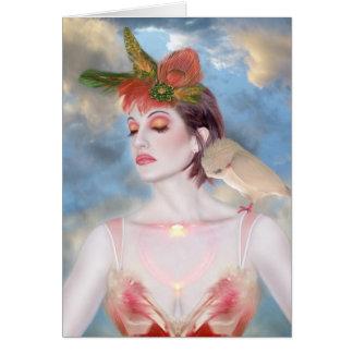 The Avian Dream - Self Portrait Card