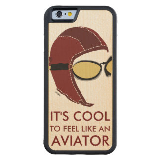 The Aviator Vintage Carved® Maple iPhone 6 Bumper Case
