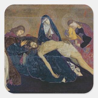 The Avignon Pieta, 1450-60 Square Sticker