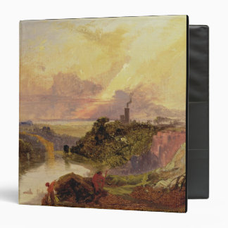 The Avon Gorge at Sunset (oil on paper) Binder