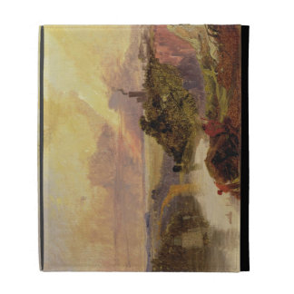 The Avon Gorge at Sunset (oil on paper) iPad Folio Cover