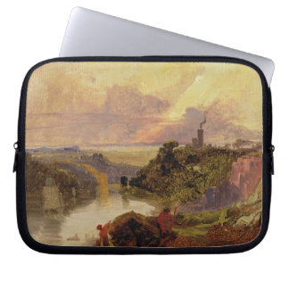 The Avon Gorge at Sunset (oil on paper) Computer Sleeve
