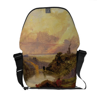The Avon Gorge at Sunset (oil on paper) Courier Bag