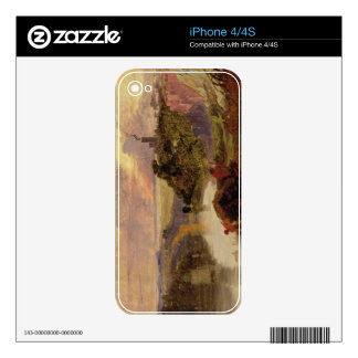 The Avon Gorge at Sunset (oil on paper) iPhone 4 Decal