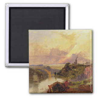 The Avon Gorge at Sunset (oil on paper) Magnet