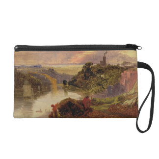 The Avon Gorge at Sunset (oil on paper) Wristlet Clutch