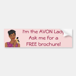 The Avon Lady, Beauty Model, African American Bumper Sticker
