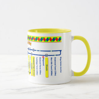 The Avon Ring Canal Route Map Mug