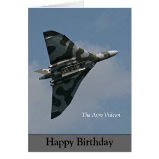 The Avro Vulcan Happy Birthday Card