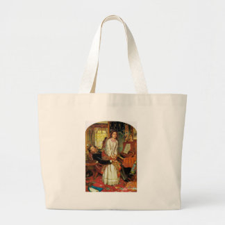 The Awakening Conscience by William Holman Hunt Large Tote Bag