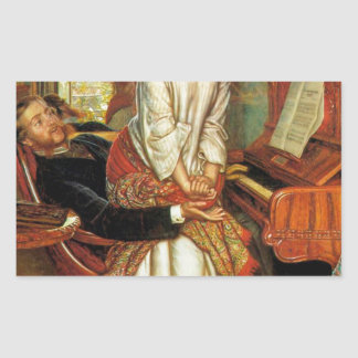 The Awakening Conscience by William Holman Hunt Rectangular Sticker