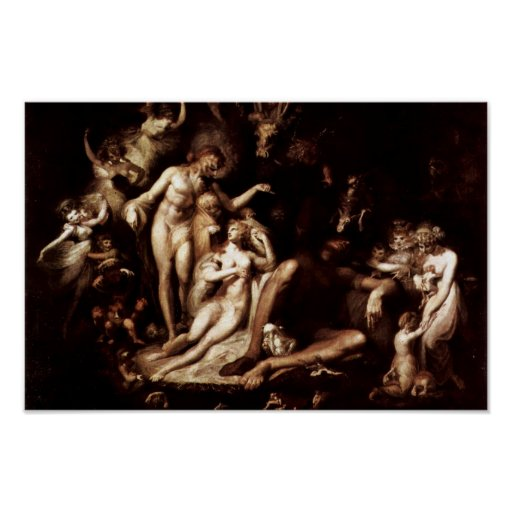 The Awakening Of The Fairy Queen Titania By Füssli Print