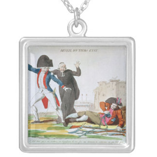 The Awakening of the Third Estate, July 1789 Square Pendant Necklace