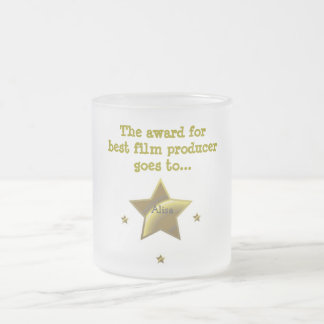The Award For Best Film Producer: Alisa 10 Oz Frosted Glass Coffee Mug