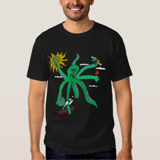 the awesome killer flying slightly injured octopus t shirt