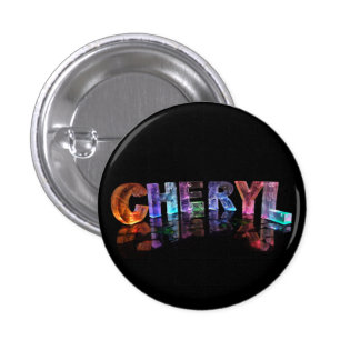 The  Awesome Name Cheryl in 3D Lights Pinback Button