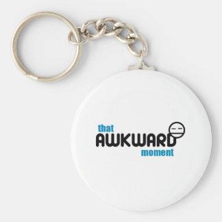 The Awkward Moment Basic Round Button Keychain