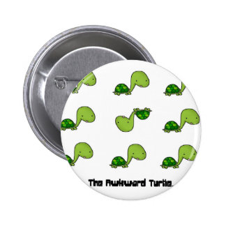 The Awkward Turtle 2 Inch Round Button