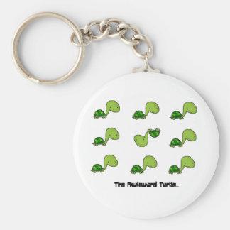 The Awkward Turtle Basic Round Button Keychain