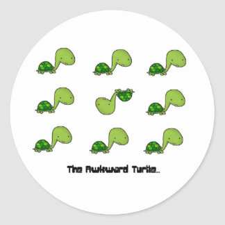 The Awkward Turtle Sticker