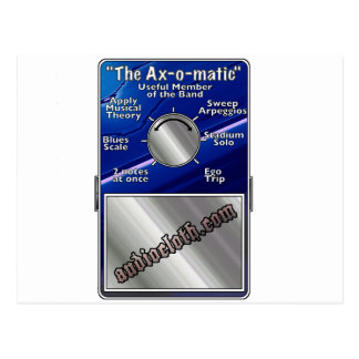 The Axomatic Guitar FX Pedal Postcard
