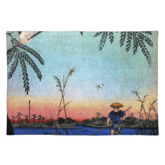The Ayase River and Kanegafuchi (綾瀬川鐘か淵) Cloth Placemat
