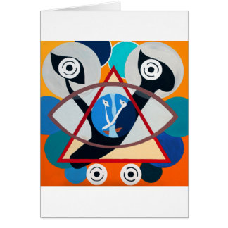 The Ayn Letter - Hebrew aphabet Greeting Cards