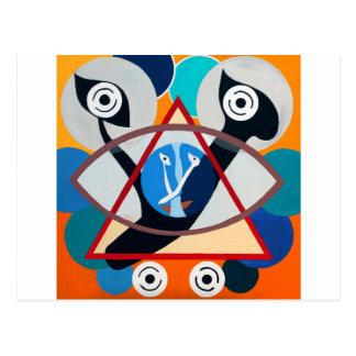 The Ayn Letter - Hebrew aphabet Postcard