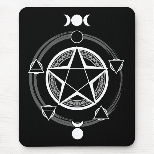 The Azodnem (Dark) Pentacle Mousepad