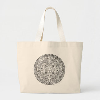 The Aztec Sun Calendar Circular Stone Design Bags